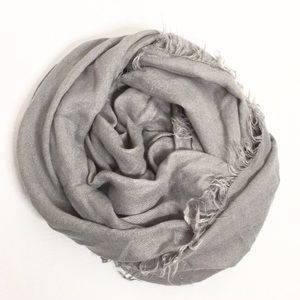 BP | Grey Large Infinity Scarf with Raw Edges